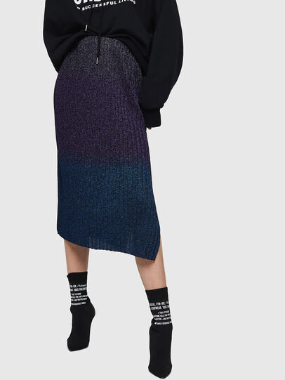 Diesel - M-ELY, Dark Blue - Skirts - Image 1