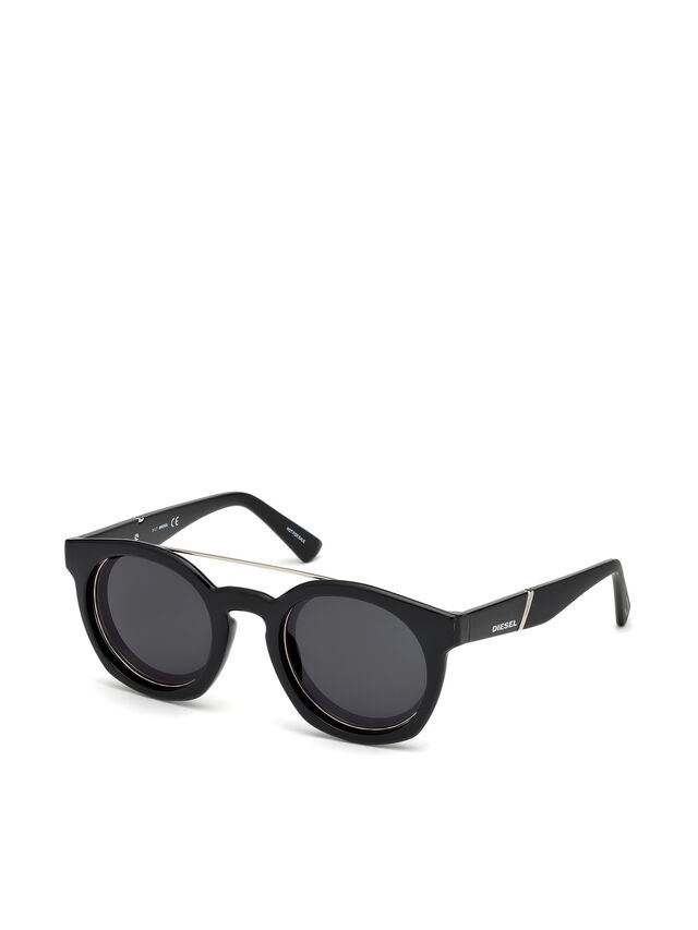 Diesel - DL0251, Bright Black - Eyewear - Image 4