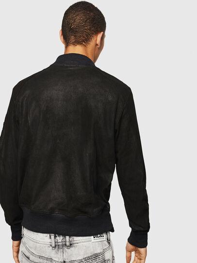 Diesel - L-NIKOLAI, Black - Leather jackets - Image 2