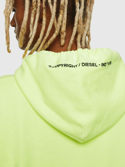 Diesel - S-ALBY-FLUO, Yellow Fluo - Sweaters - Image 6