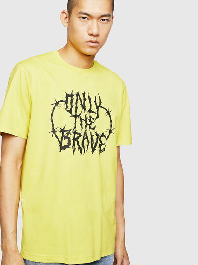 Diesel - T-JUST-B23, Yellow - T-Shirts - Image 1