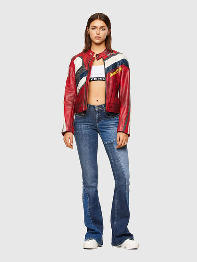 Diesel - L-POLLY, Red - Leather jackets - Image 6