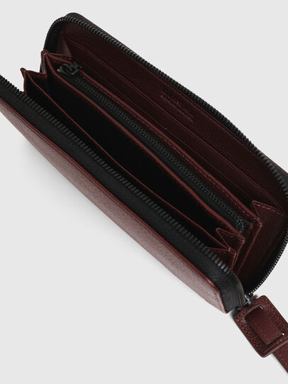 Diesel - 24 ZIP, Burgundy - Small Wallets - Image 3