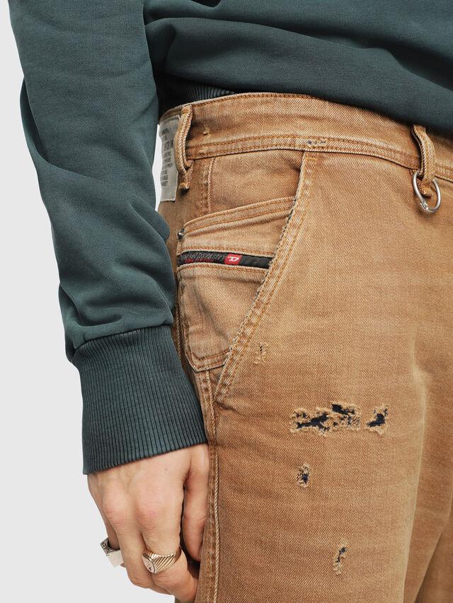 Diesel - P-FRANK-DNM, Dark Beige - Pants - Image 3