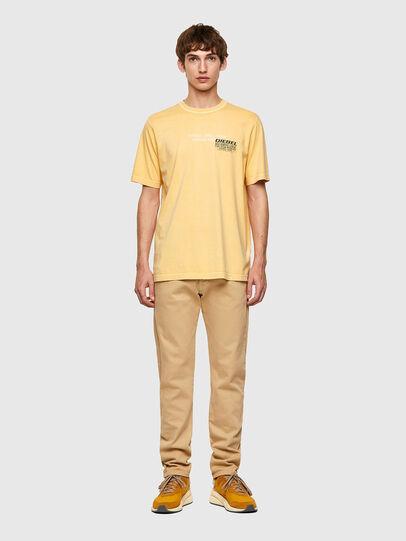Diesel - T-JUBINDY-B1, Yellow - T-Shirts - Image 4