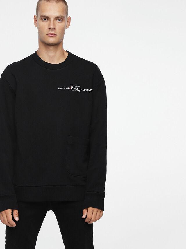 Diesel - S-ELLIS-CL, Black - Sweaters - Image 1