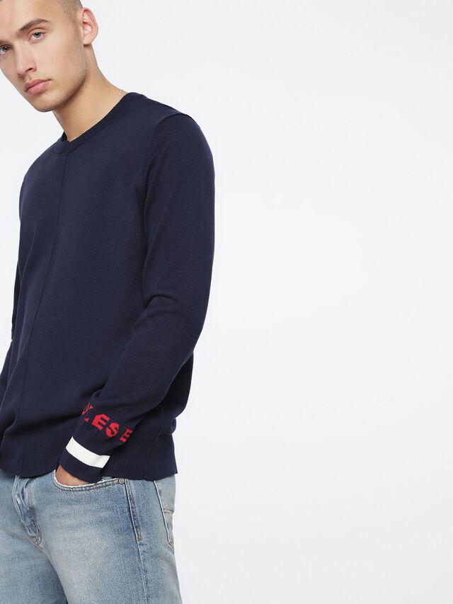 Diesel - K-TOP, Blue - Knitwear - Image 3