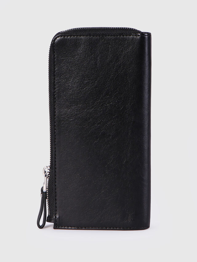 Diesel L-24ZIP, Black - Zip-Round Wallets - Image 2