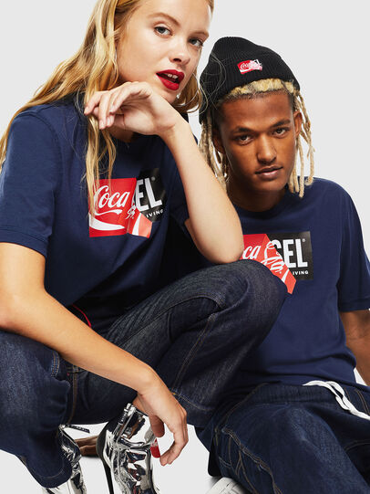 Diesel - CC-T-JUST-COLA, Dark Blue - T-Shirts - Image 6