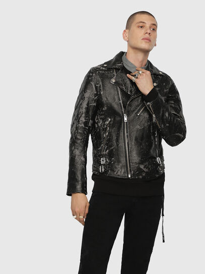Diesel - L-KRAMPIS-A,  - Leather jackets - Image 4