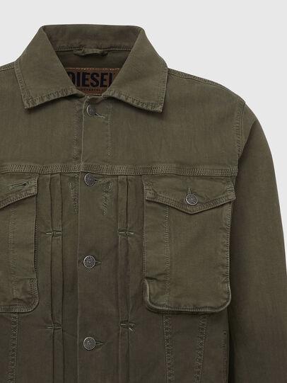 Diesel - D-YOGI-SP JOGGJEANS, Olive Green - Denim Jackets - Image 4