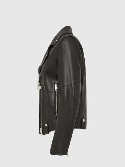 Diesel - L-LYFA, Black - Leather jackets - Image 3