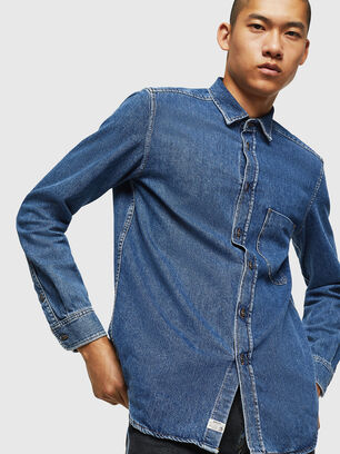 D-BER-P, Medium blue - Denim Shirts