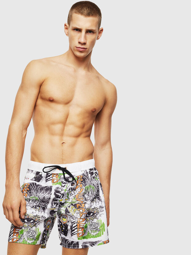 BMBX-WAYKEEKI 2.017, White - Swim shorts