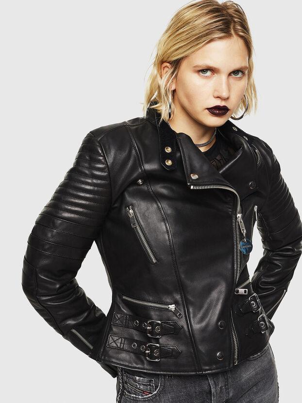 L-IGE, Black - Leather jackets