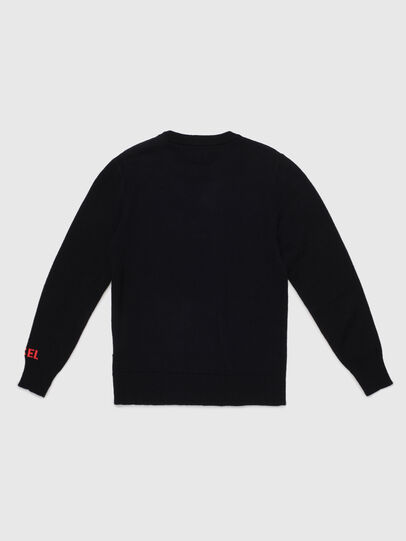 Diesel - KTAPEX, Black/Red - Knitwear - Image 2