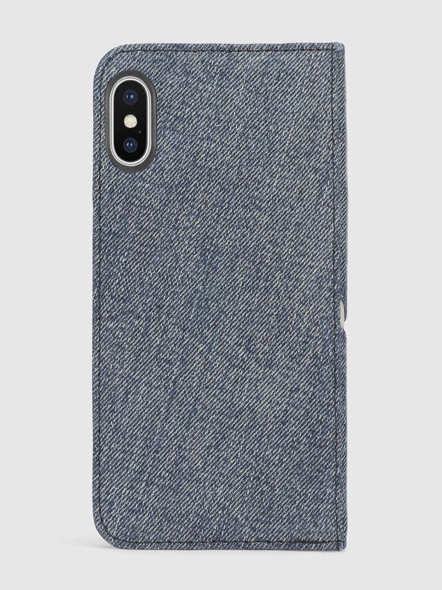 Diesel - DENIM IPHONE X FOLIO, Blue Jeans - Flip covers - Image 3