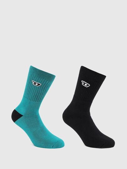 Diesel - SKM-RAY-TWOPACK, Black/Blue - Socks - Image 1