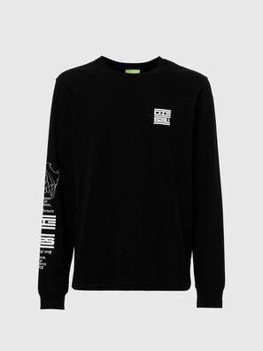 T-JUST-LS-N61, Black - T-Shirts