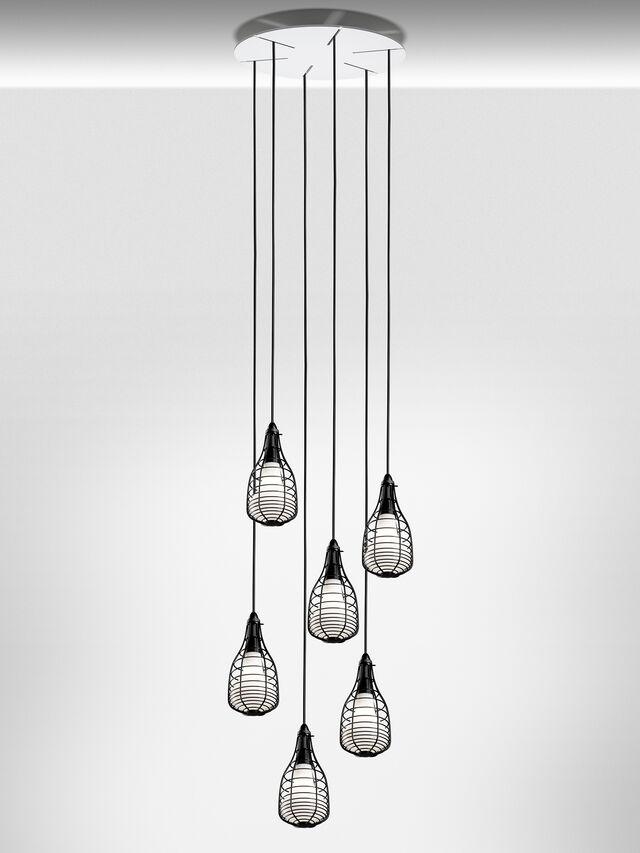 Living CAGE SOSPENSIONE MIC, Black - Hang Lighting - Image 3
