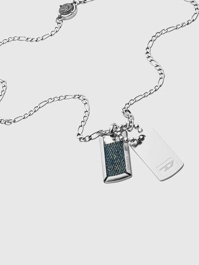Diesel - DX1246, Silver - Necklaces - Image 2
