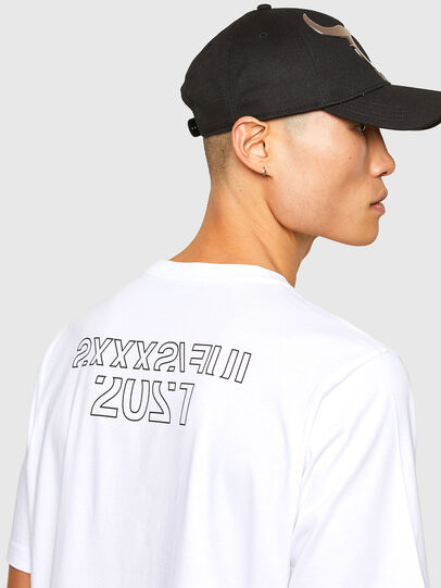 Diesel - CL-T-JUST-O1, White - T-Shirts - Image 5