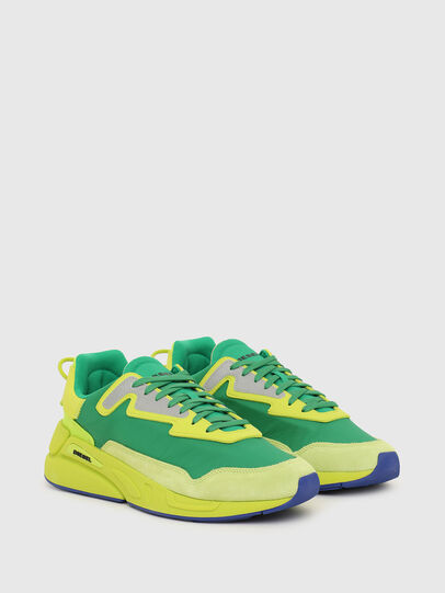 Diesel - S-SERENDIPITY LC, Yellow/Green - Sneakers - Image 2