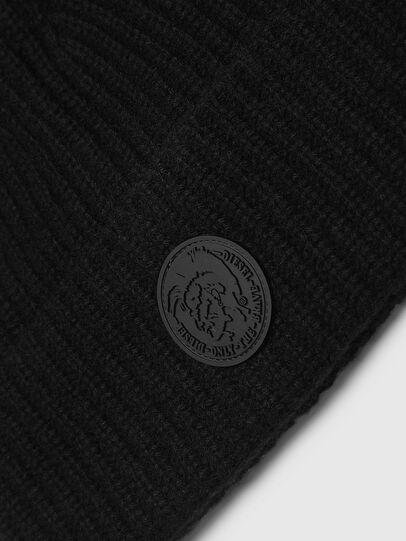 Diesel - K-LORO, Black - Knit caps - Image 3