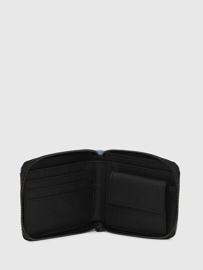 Diesel - ZIPPY HIRESH S, Blue Jeans - Zip-Round Wallets - Image 3