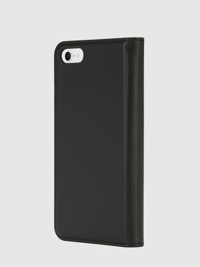 Diesel - SLIM LEATHER FOLIO IPHONE 8/7, Black - Flip covers - Image 3