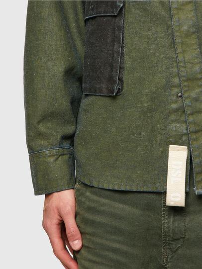 Diesel - D-CORU-SP, Military Green - Denim Shirts - Image 3