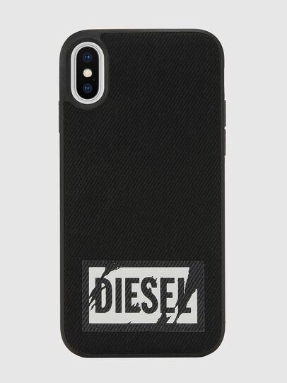 Diesel - BLACK DENIM IPHONE X CASE, Black - Cases - Image 2
