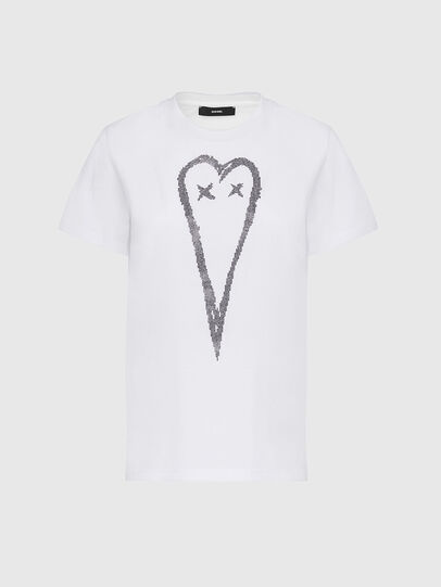 Diesel - T-SILY-E53, White - T-Shirts - Image 1