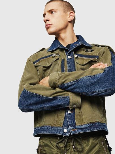 Diesel - D-MALLY, Blue/Green - Denim Jackets - Image 1