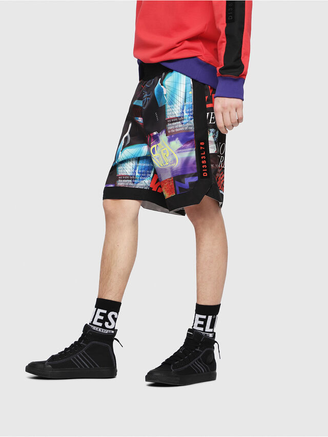 Diesel - P-KUMI-PRINT, Multicolor/Black - Shorts - Image 3