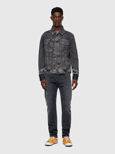 Diesel - NHILL-C1, Black - Denim Jackets - Image 6