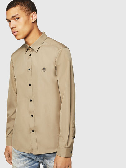 Diesel - S-BILL, Military Green - Shirts - Image 1