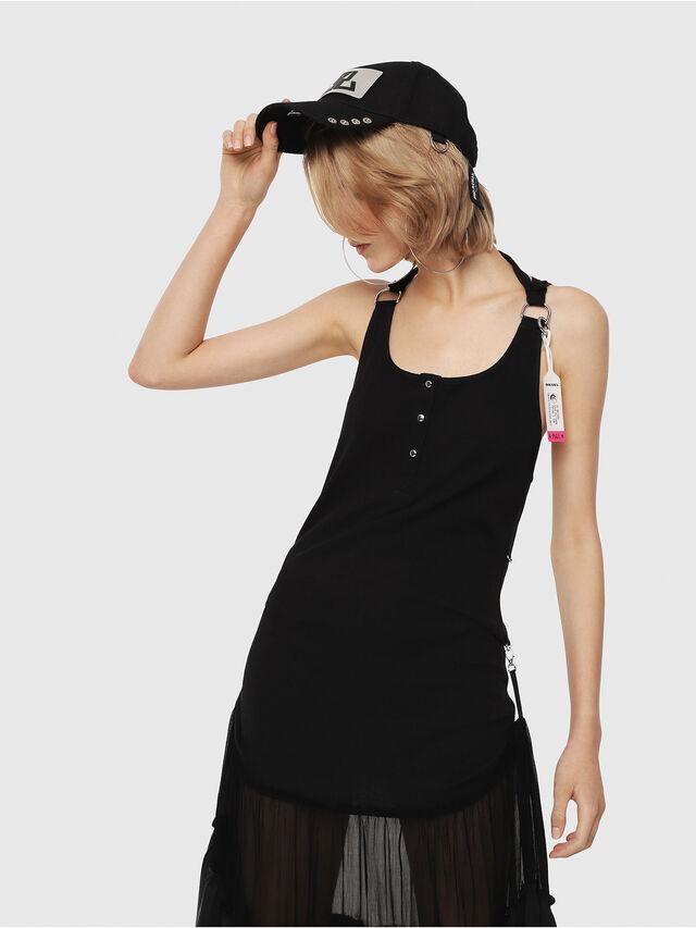Diesel - D-SAIGE, Black - Dresses - Image 4