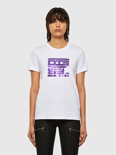 Diesel - T-SILY-K5, White - T-Shirts - Image 1
