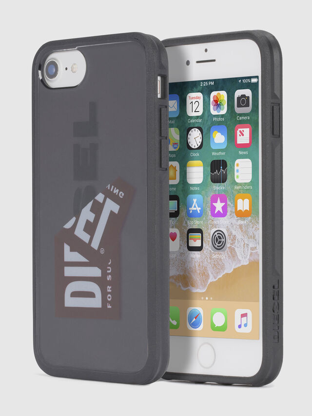 Diesel STICKER IPHONE 8/7/6S/6 CASE, Black - Cases - Image 1