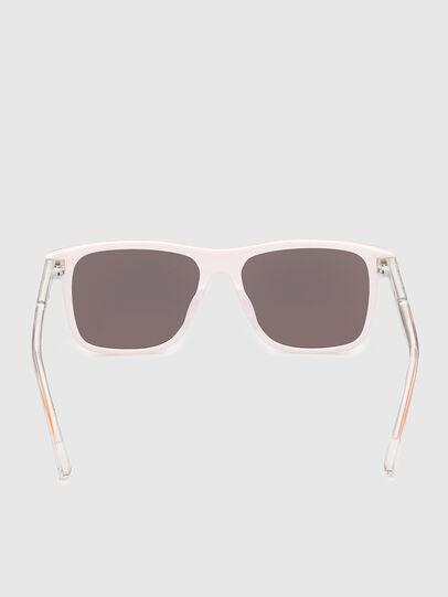 Diesel - DL0279, White/Orange - Sunglasses - Image 4