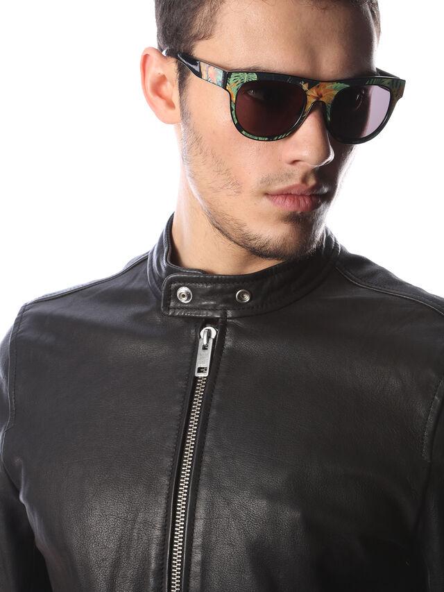 Diesel - DM0160, Black/Orange - Eyewear - Image 5