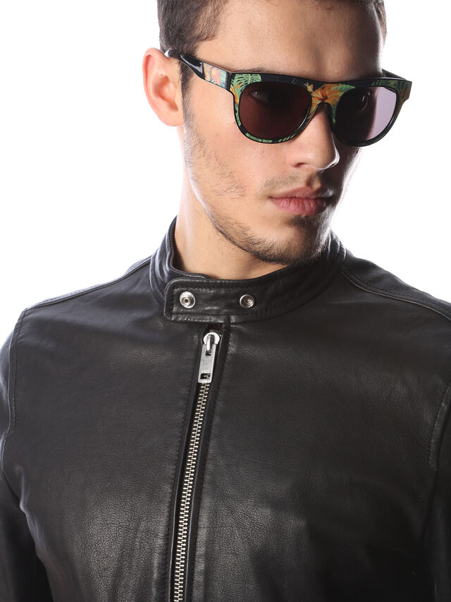 Diesel - DM0160, Black/Orange - Sunglasses - Image 5