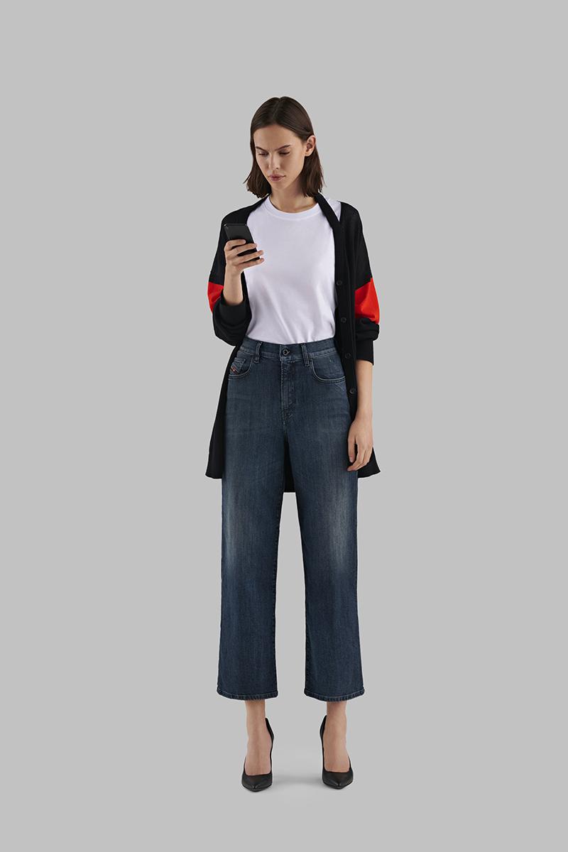 Diesel Wide Jeans Woman